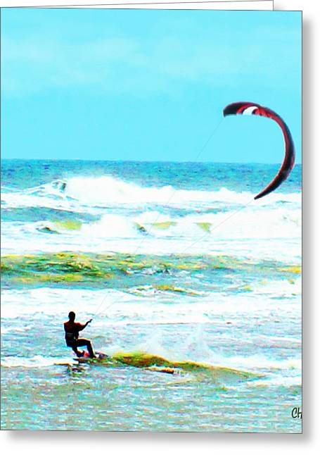 Para Surfing Greeting Cards - Para-Surfer   Greeting Card by CHAZ Daugherty