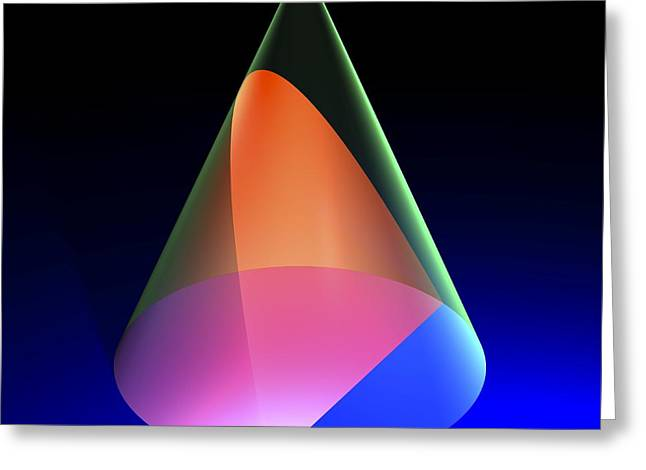 Geometric Artwork Greeting Cards - Parabola, Artwork Greeting Card by Russell Kightley