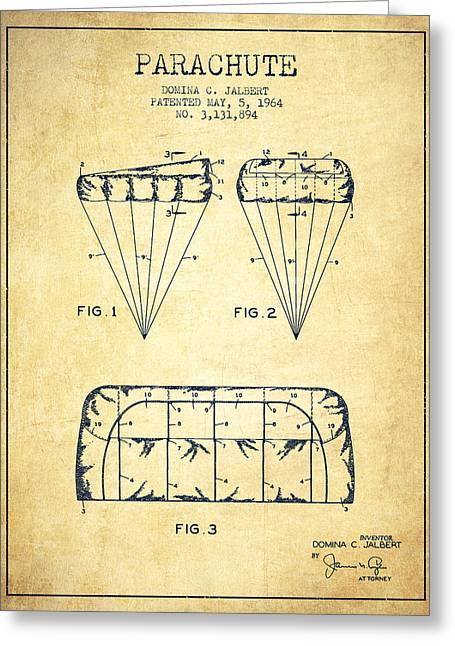 Technical Greeting Cards - Parachute Design patent from 1964 - Vintage Greeting Card by Aged Pixel