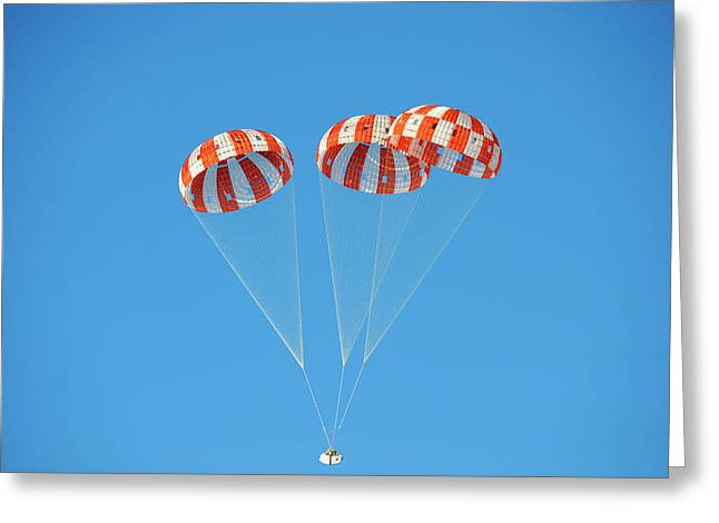 Parachute Test For Orion Spacecraft Greeting Card by Nasa