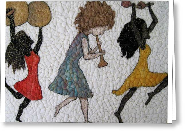 March Tapestries - Textiles Greeting Cards - Parade  Greeting Card by Bonnie Nash