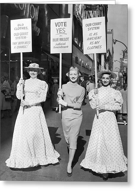 Reform Greeting Cards - Parade For Court Reform Greeting Card by Underwood Archives