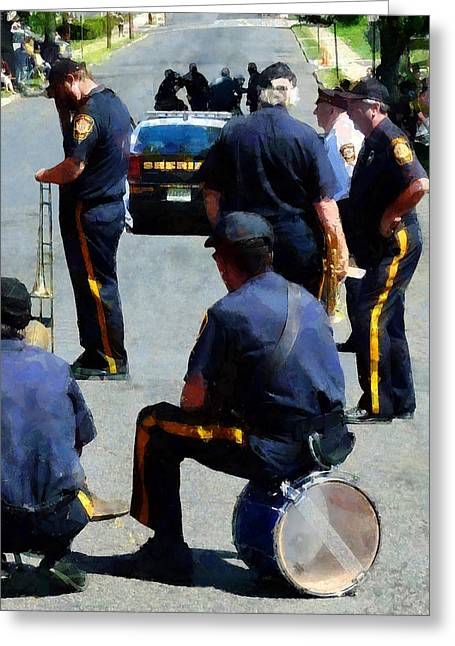 Police Greeting Cards - Parade Rest Greeting Card by Susan Savad