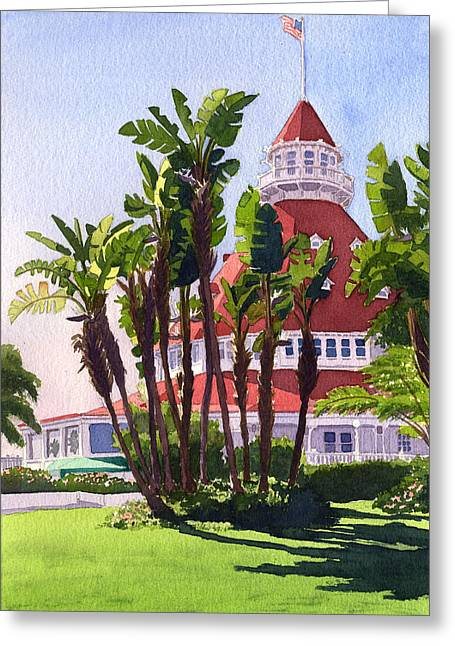 Bird Of Paradise Greeting Cards - Paradise at the Hotel Del Coronado Greeting Card by Mary Helmreich