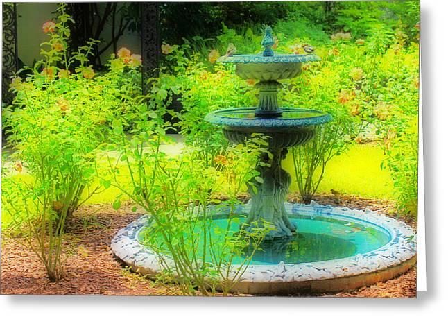 Savannah Parks Gardens Greeting Cards - Paradise Corner Greeting Card by Iryna Burkova