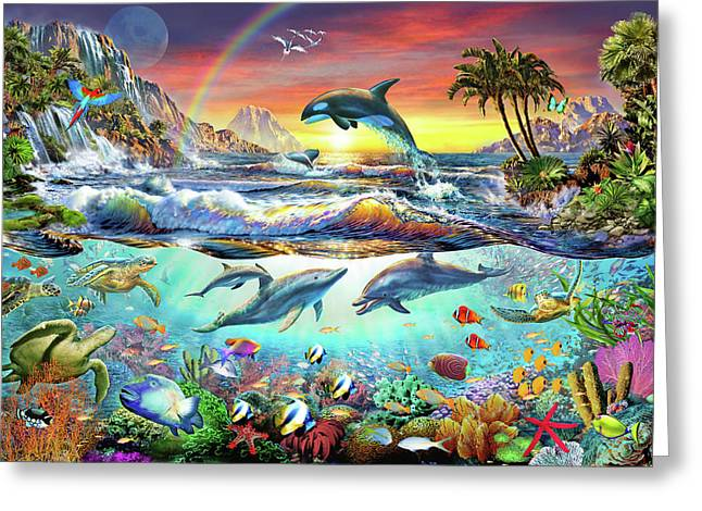 Paradise Cove Greeting Card by Adrian Chesterman