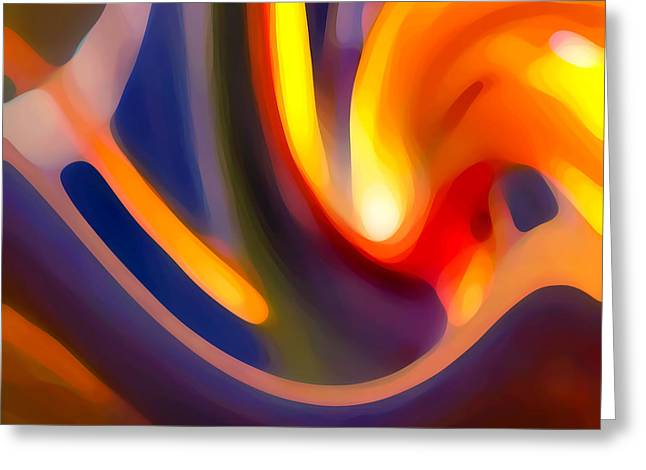 Abstract Movement Greeting Cards - Paradise Creation Greeting Card by Amy Vangsgard