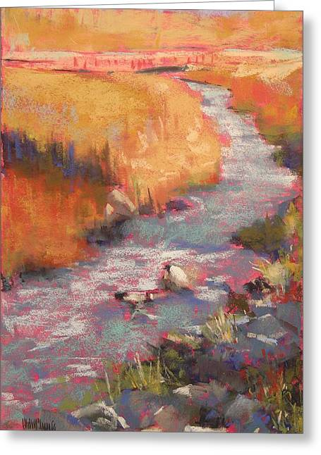 Creek Pastels Greeting Cards - Paradise Creek Greeting Card by Mary McInnis