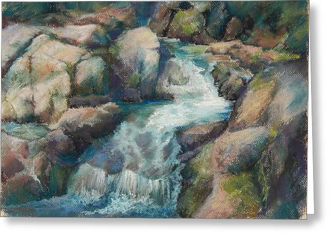 Mt Pastels Greeting Cards - Paradise Creek Mt Rainer Greeting Card by Marlene Kingman
