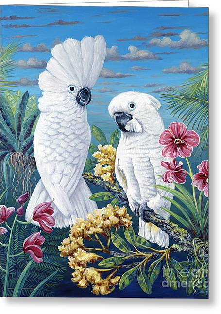 Danielle Perry Paintings Greeting Cards - Paradise for Too Greeting Card by Danielle  Perry