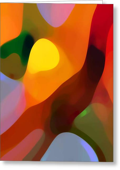 Abstract Movement Greeting Cards - Paradise Found 2 Tall Greeting Card by Amy Vangsgard