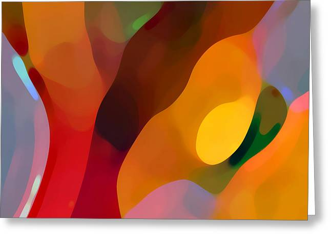 Abstract Movement Greeting Cards - Paradise Found 3 Greeting Card by Amy Vangsgard