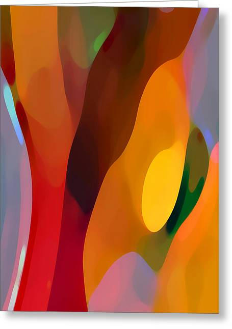 Abstract Movement Greeting Cards - Paradise Found 3 Tall Greeting Card by Amy Vangsgard