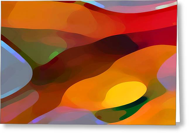 Abstract Movement Greeting Cards - Paradise Found Greeting Card by Amy Vangsgard