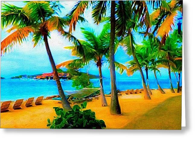Saba Rock Greeting Cards - Paradise Found Greeting Card by Jennifer Simpson
