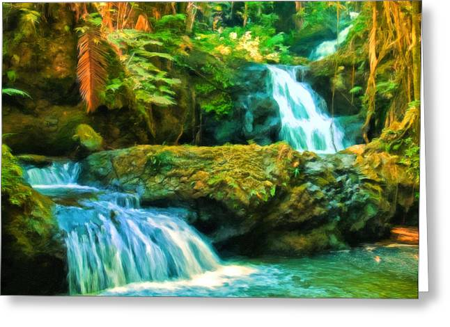 Paradise Found Greeting Card by Michael Pickett