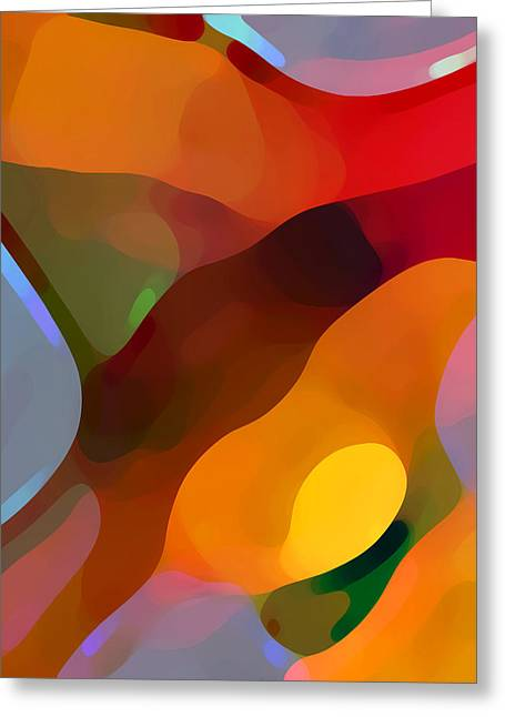 Abstract Movement Greeting Cards - Paradise Found Tall Greeting Card by Amy Vangsgard