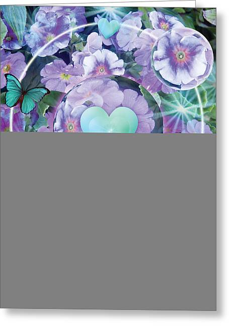 Wild Pansy Greeting Cards - Paradise Garden Heart Greeting Card by Alixandra Mullins