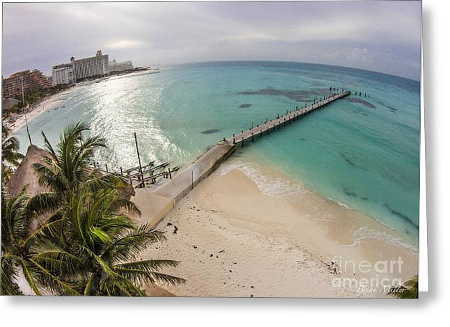 Tropical Beach Pyrography Greeting Cards - Paradise Getaway Cancun Greeting Card by Brian  Miller