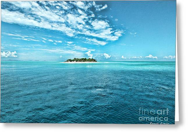 Island .oasis Greeting Cards - Paradise in Fiji Greeting Card by Karen Lewis