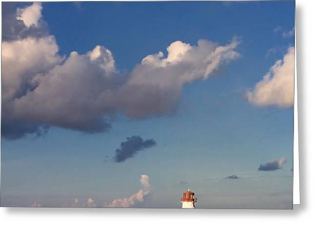 Paradise Island Lighthouse Greeting Card by Stephanie McDowell