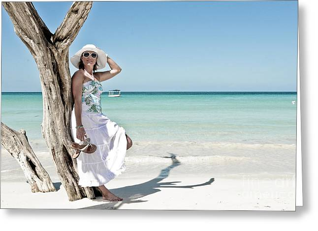 Sundress Greeting Cards - Paradise Greeting Card by Jt PhotoDesign