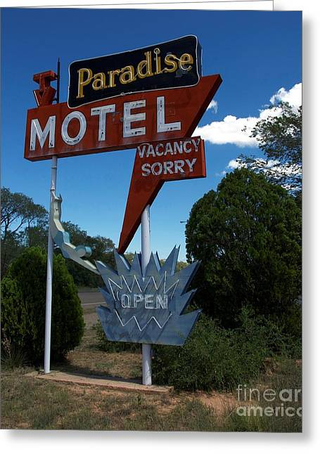 Paradise Road Greeting Cards - Paradise On Route 66 Greeting Card by Mel Steinhauer