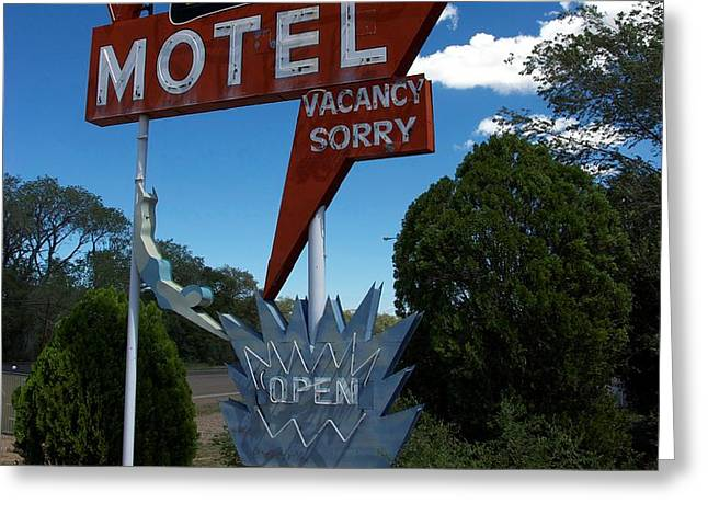 Paradise On Route 66 Greeting Card by Mel Steinhauer