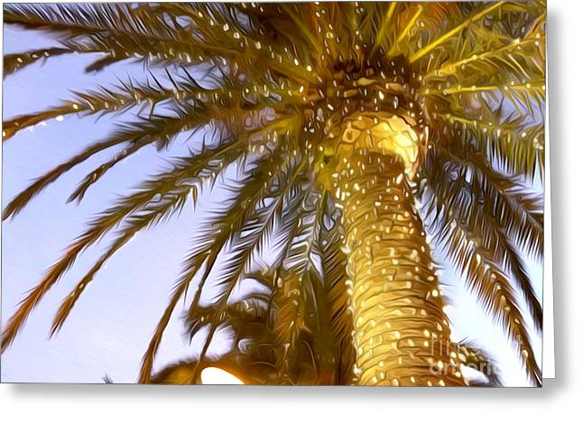 Fort Lauderdale Greeting Cards - Paradise Palm Greeting Card by Jon Neidert