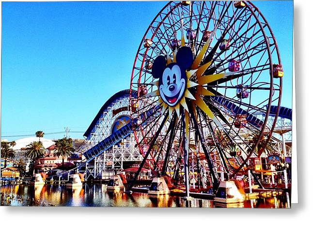 paradise pier CALIFORNIA ADVENTURE Greeting Card by Kileen Oberle