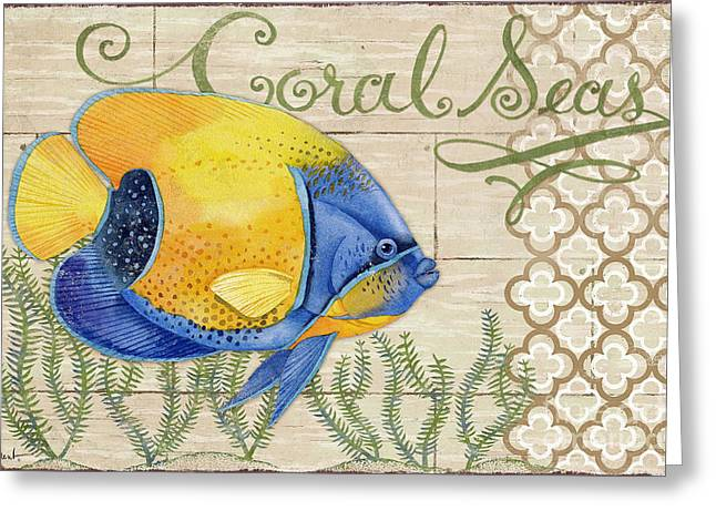 Reef Fish Paintings Greeting Cards - Paradise Reef I Greeting Card by Paul Brent