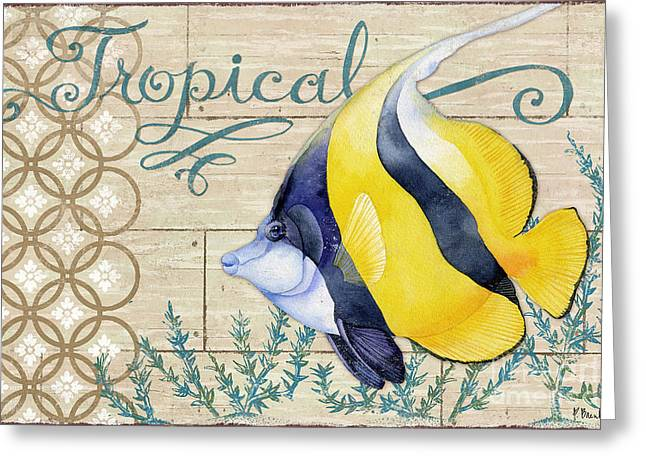 Reef Fish Paintings Greeting Cards - Paradise Reef II Greeting Card by Paul Brent