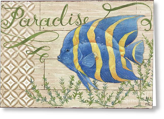 Reef Fish Paintings Greeting Cards - Paradise Reef IV Greeting Card by Paul Brent