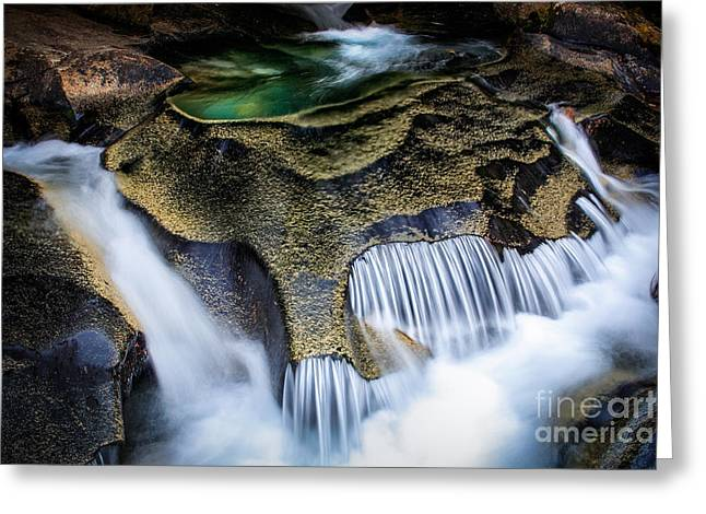 Flowing Greeting Cards - Paradise Rocks Greeting Card by Inge Johnsson