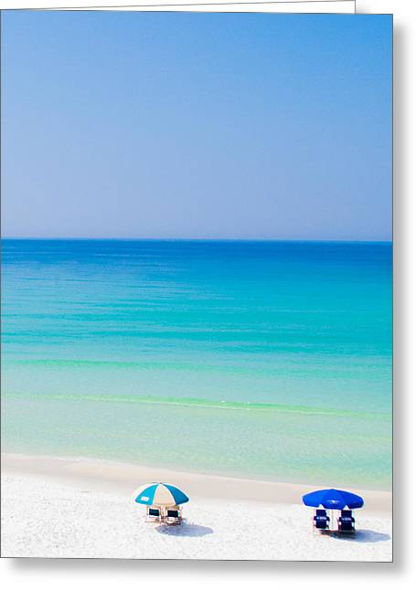 Blue Green Water Digital Greeting Cards - Paradise Greeting Card by Shelby  Young