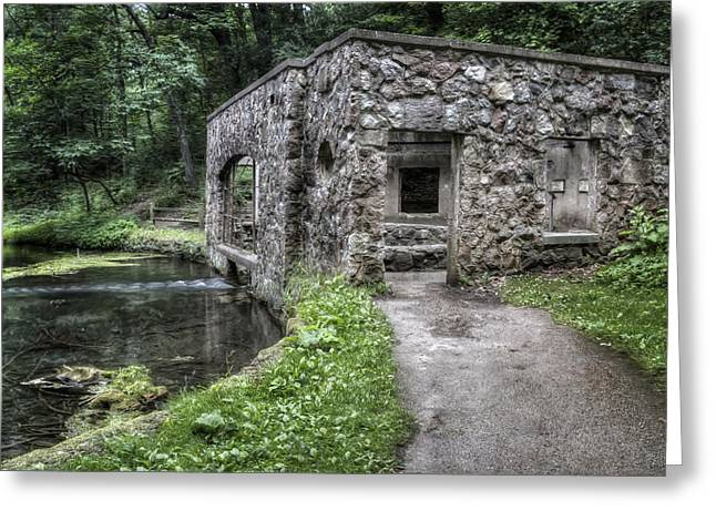 Kettle Moraine Greeting Cards - Paradise Springs Spring House 1 Greeting Card by The  Vault - Jennifer Rondinelli Reilly
