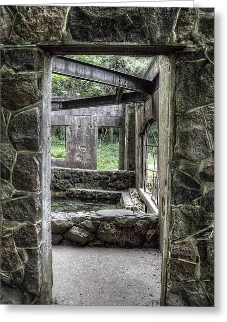 Kettle Moraine Greeting Cards - Paradise Springs Spring House Doorway Greeting Card by The  Vault - Jennifer Rondinelli Reilly