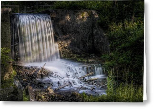 Drop Greeting Cards - Paradise Springs Waterfall Greeting Card by Scott Norris
