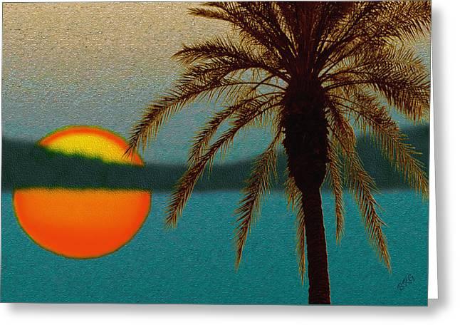 Raisa Gertsberg Digital Greeting Cards - Paradise Sun Greeting Card by Ben and Raisa Gertsberg