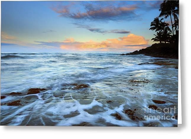 Koloa Greeting Cards - Paradise Sunrise Greeting Card by Mike Dawson