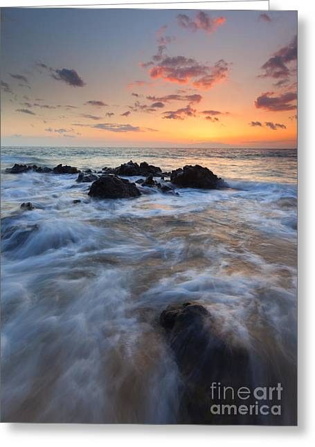Sunset Seascape Greeting Cards - Paradise Surge Greeting Card by Mike Dawson