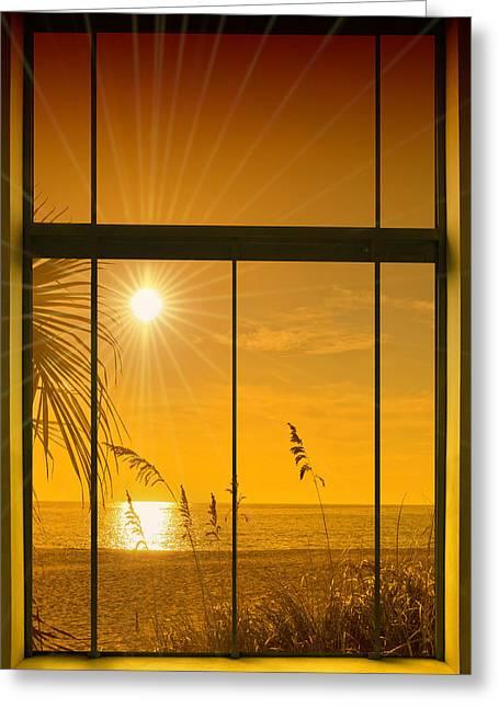 Mood Digital Art Greeting Cards - Paradise View II Greeting Card by Melanie Viola