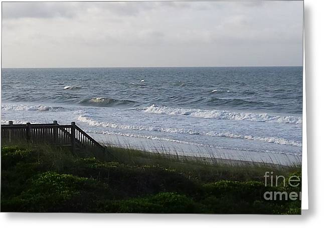 Walkway To The Beach Greeting Cards - Paradise Walkway On The Atlantic Ocean Greeting Card by Paddy Shaffer