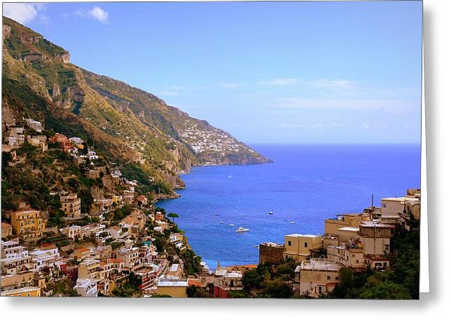Southern Province Greeting Cards - Paradisically Positano Greeting Card by Toni Abdnour