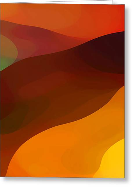 Red Abstract Greeting Cards - Paradisr Found 1 Panel B Greeting Card by Amy Vangsgard