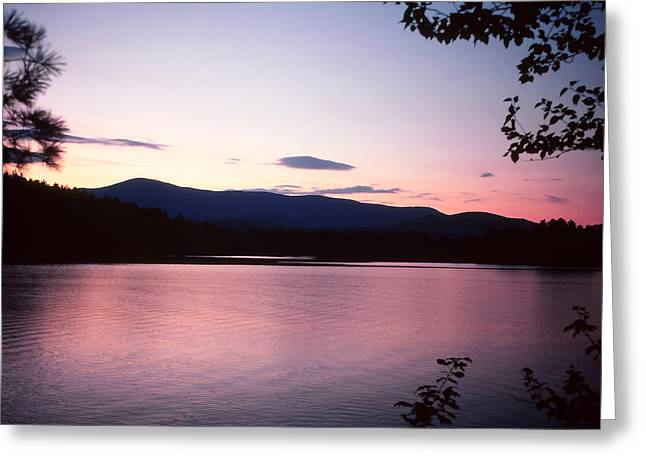 Lake Paradox Greeting Cards - Paradox Lake Sunset Greeting Card by Brian Lucia