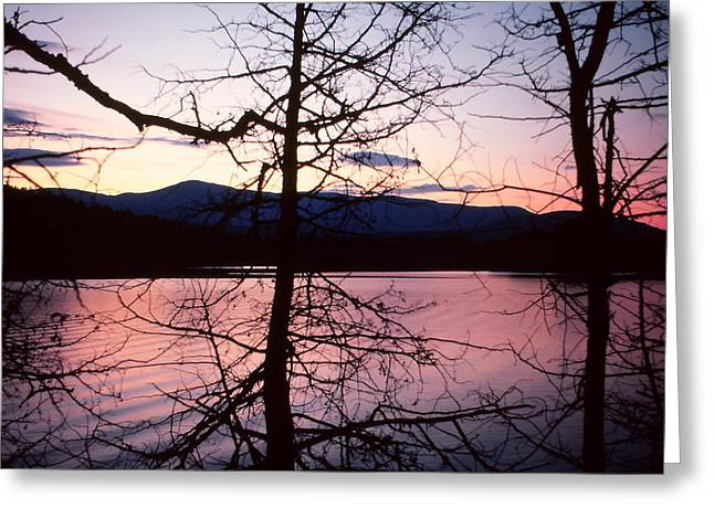 Lake Paradox Greeting Cards - Paradox Lake Sunset II Greeting Card by Brian Lucia