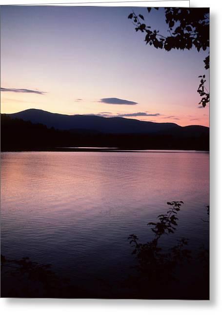 Lake Paradox Greeting Cards - Paradox Lake Sunset III Greeting Card by Brian Lucia
