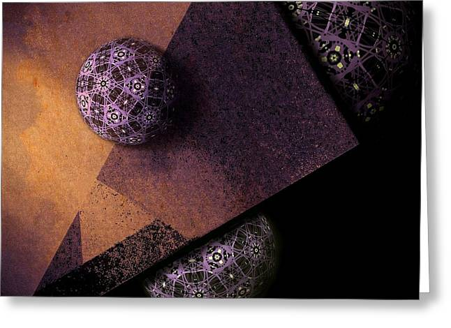 Surreal Geometric Greeting Cards - Paragon Greeting Card by Susan Maxwell Schmidt