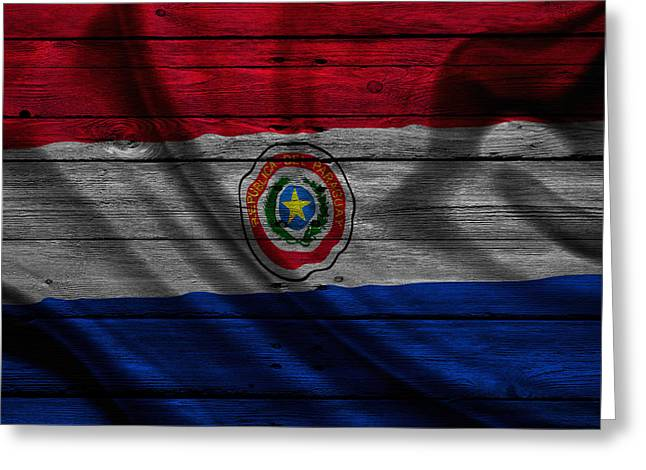 Continent Greeting Cards - Paraguay Greeting Card by Joe Hamilton
